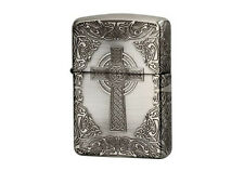 ZIPPO Celtic Design SA Antique Silver / RARE model from JAPAN