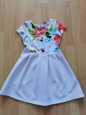 Girls Ted baker Dress Age 6/7/8 Years pink Beautiful floral