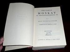 FIRST EDITION ISAAC BASHEVIS SINGER THE FAMILY MOSKAT 1950 HC 1st NOVEL KNOPF