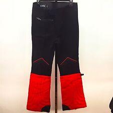 Profile Men's 32 x 31 Snow Ski Pants Zipper Buckle Leg Padded Red Black Wool Vtg