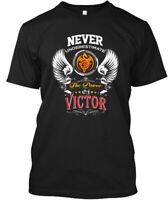 Never Underestimate Victor - The Power Of Hanes Tagless Tee T-Shirt
