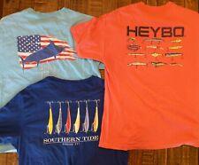 Lot of 3 Sz Large Southern Tide Guy Harvey Salt Life Heybo Logo Pocket t-Shirts