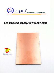 PLACA PCB FIBRA DE VIDRIO FR4 5X7 1.4 mm DOBLE CARA
