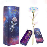 LED Galaxy Rose Flower Valentine's Day Gift Romantic Crystal Rose With Box Women