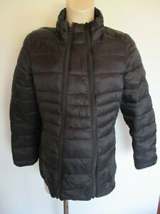 GEORGE MATERNITY & BEYOND BLACK LIGHTWEIGHT QUILTED COAT JACKET SIZE M 12-14