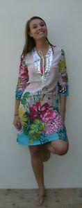 White Floral Dress Ladies Girls Summer Fashion (D5)
