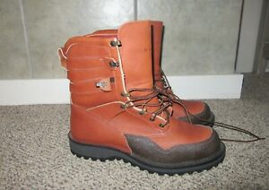 Mens Danner for ORVIS Fishing Boots Sz 11 Leather  Vintage Excellent