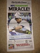 SEATTLE TIMES NEWSPAPER SEAHAWKS Packers Nfc CHAMPIONSHIP MONDAY Superbowl