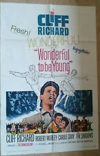 ORIGINAL MOVIE POSTER  CLIFF RICHARD - WONDERFUL TO BE YOUNG (1961)