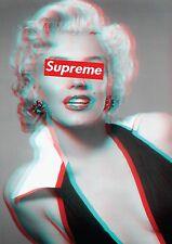Marilyn Monroe Supreme classic iconic poster 3D Effect A1 Large glossy