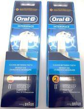GENUINE ORAL B IP17 - MULTIPACK! 4 BRUSHES INTERSPACE / INTERDENTAL SEALED PACKS