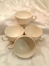 """Wedgwood of Etruria Barlaston All White """"Willow Weave"""" Footed Cups"""
