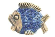 A Fisher Stengods studio pottery fish Blue 1970's Swedish