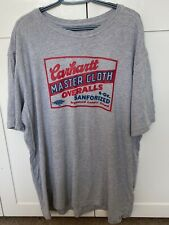 Mens Carhartt T-shirt Grey XL