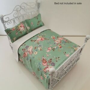 Handmade Dolls House Bedding Set -1/12 Scale/ To fit  Double Bed