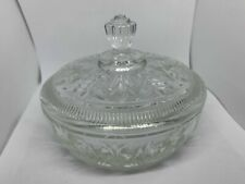 Vintage Avon Collectible Clear Lidded Dish Glass Bowl 6""
