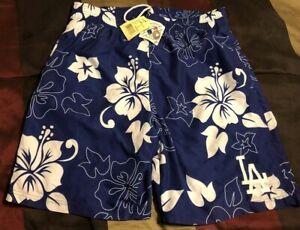 Los Angeles Dodgers Bathing Swim Suit Medium Trunks Shorts Hawaiian Style MLB