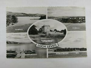 Kinross Scotland Vintage B&W Postcard 1960 Loch Leven Multi view
