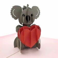 Koala with Love Heart 3d pop up card