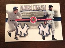 Wade Boggs & Joe Torre 2001 UD Yankees dynasty game-used dual Jersey
