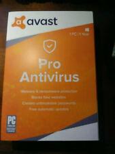 Avast Pro Antivirus - 1 PC / 1-Year - Global - CD RETAIL BOX BRAND NEW