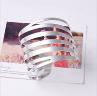 NEW Fashion Women Lots Style Gold Silver Bangle Punk Bracelet Charm Cuff Jewelry