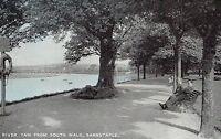 POSTCARD  DEVON    BARNSTAPLE    River Taw from South walk