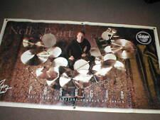 Drummer Neil Peart Sabian Paragon Banner