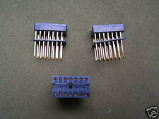 Yamaichi IC-09-14  14 Pin Dil Gold Plated IC Socket Blue 3 Pieces OM0982