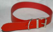 Dog Collar Red Leather 1inch Wide NEW