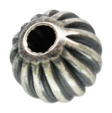 Sterling Silver .925 4mm Round Corrugated Ox. Beads Approx. 25 Pieces ~1204CX~