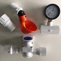 10 Cup Chicken Water System + Bushings, Pressure Regulator, Gauge, Hose Adapter
