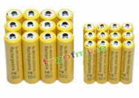 12 AA + 12 AAA 3000mAh Ni-Mh rechargeable battery yel