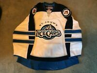 St Johns Ice Caps Team Issued Pro Stock CCM White Home Jersey AHL Jets 56