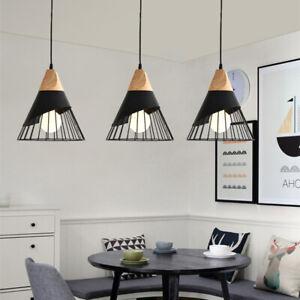 3X Black Pendant Lights Room Ceiling Lamp Bar Light Kitchen Chandelier Lighting
