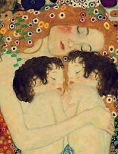 Mother and Twins  :  Gustav Klimt :  Fine Art Print  : Home Decor Nursery Decor