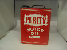 VINTAGE ADVERTISING TWO GALLON PURITY SERVICE STATION MOTOR OIL CAN    658-Z