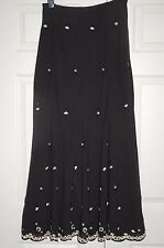 New 12 Long Tall Sally Extra Long Skirt Chiffon Beaded Sequin Escalloped Hem