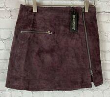 NWT BLANKNYC Womens' Blackberry/Burgundy Suede Skirt Size 25 $98.00