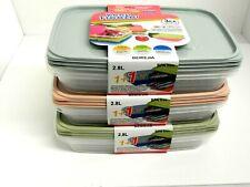 3pcs plastique alimentaire conteneur de stockage de micro-ondes Congélateur en t...