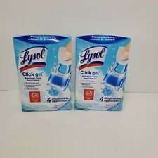 Two Lysol Click Gel Fresh Scent Automatic Toilet Bowl Cleaner 2 pk 8 gels
