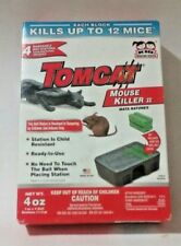TOMCAT MOUSE KILLER II DISPOSABLE BAIT STATION KID RESISTANT 1 PACK OF 4 NEW