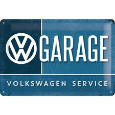 VW GARAGE Volkswagen Service Embossed Vintage Retro Metal Tin Sign Wall Bar Deco