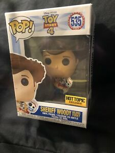 Funko POP: Toy Story 4 - Sheriff Woody holding Forky Hot Topic Exclusive (P2)