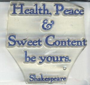 Clarity - Clear Z-Mounted Stamp - 'Health, Peace & Sweet Content be yours'
