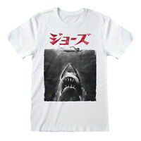 Official Jaws Japanese Poster T Shirt Shark Classic Retro Spielberg Movie New