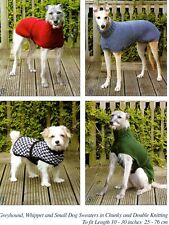 296 DOGS COATS SIZES S-XL CHUNKY & DK VINTAGE KNITTING PATTERN