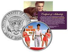 ELVIS PRESLEY - MOVIE *Girls Girls Girls* JFK Kennedy Half Dollar Coin LICENSED