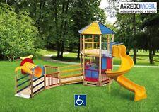FORTINO ARCOBALENO ACCESSIBILE a BAMBINI CON DISABILITA gioco inclusivo handicap