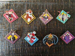 Disney Pin Trading Villains 8 Piece Set